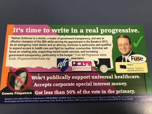 Both candidates in the 26th District House race are condemning a campaign mailer that asks progressive voters to write in a candidate who's not in the race — and doesn't want to be. https://t.co/mWU9Jxy7H2