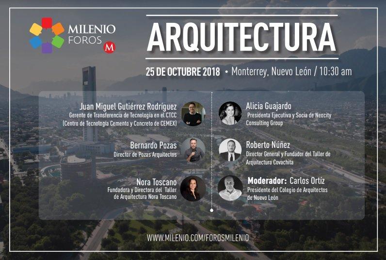 Ellos son los expertos que nos hablarán del cómo se logró #CrearCiudad en Monterrey para volverlo clave en el desarrollo urbano  No te pierdas la nueva edición de #MilenioForos el jueves 25 de octubre a las 10:30 horas  #ArquitecturaMty  https://t.co/ryWFq6Kj3v