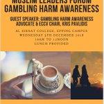 Image for the Tweet beginning: Muslim Leaders Gambling Harm Awareness