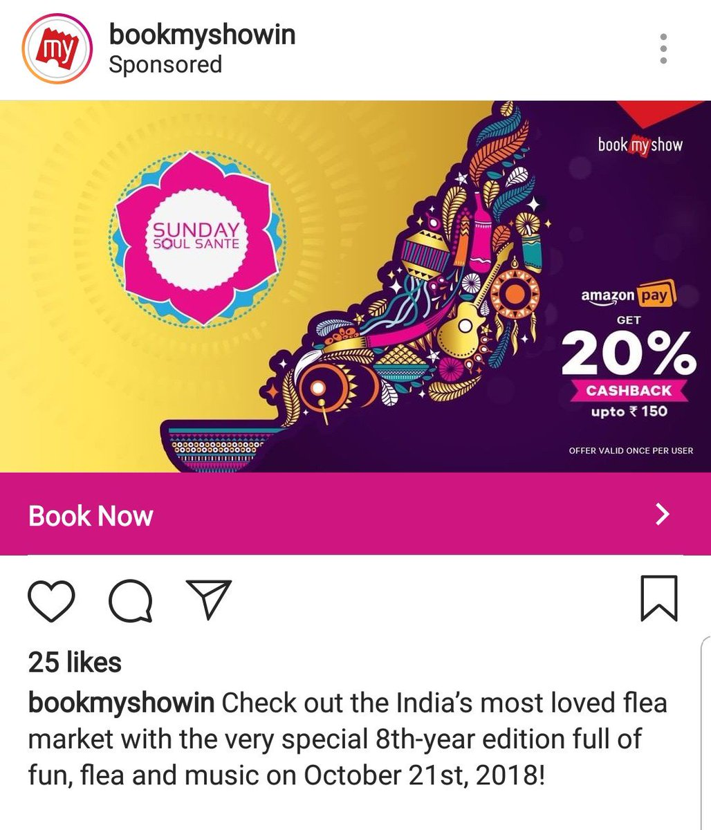 When a digital marketer forget to stop the ad or schedule the end time of an ad this is what happens 😀😀  @bookmyshow please stop the ad as the event is over.