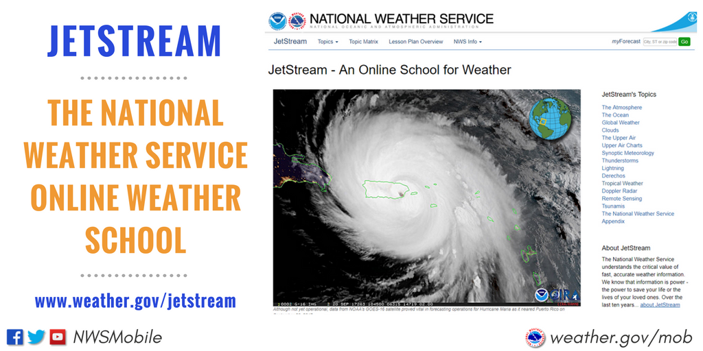 Did You Know ⛈🌪💦 The @NWS has an online school designed for anyone interested in learning about weather! https://t.co/uDw1PyMpnm #FallSafety
