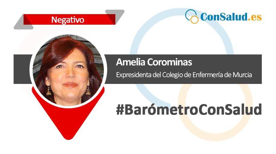 #BarómetroConSalud 🔻 Amelia Corominas, expresidenta de @coemur: denunciada por #enfermería https://t.co/U3836dQQ1f