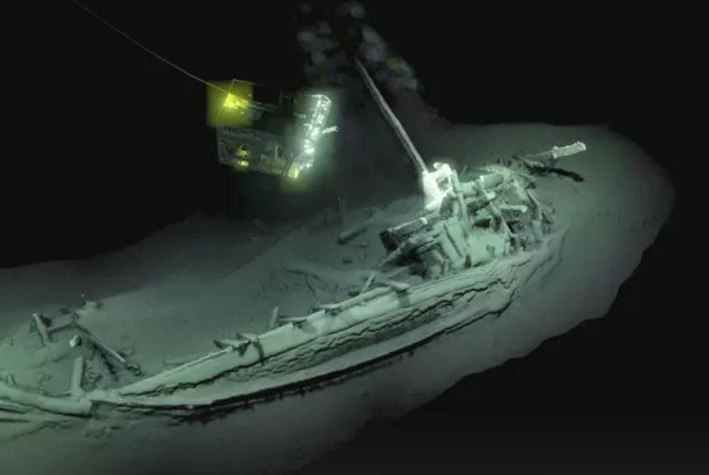 World's oldest intact shipwreck discovered in Black Sea. Archaeologists say the 23-metre vessel has lain undisturbed for more than 2,400 years. https://t.co/ejea1HqaKv