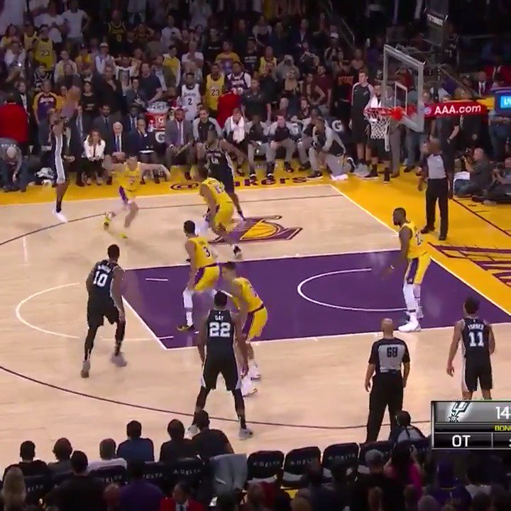 The ending to that Spurs/Lakers game was wild. �� https://t.co/fLx5YDUnAr