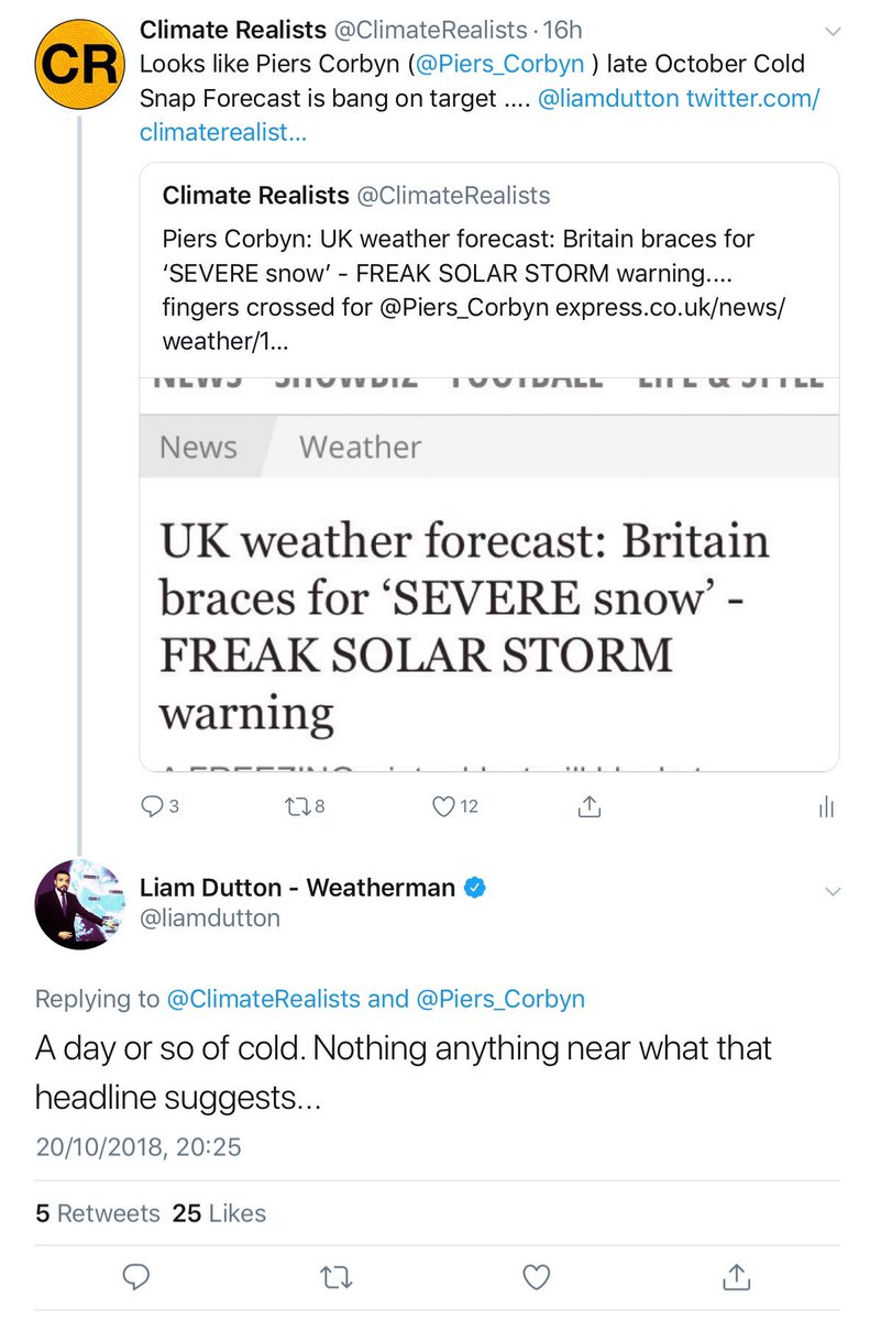 Climate Realists on Twitter: