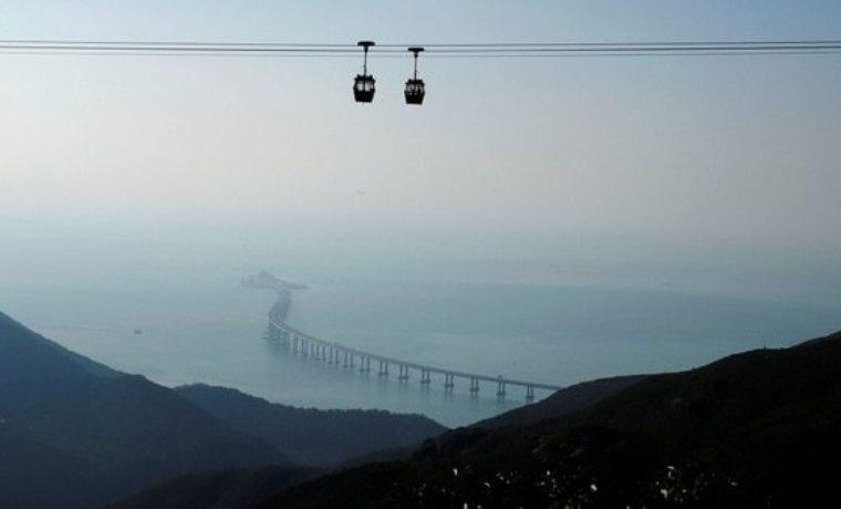 Después de 9 años de construcción, China inaugura el puente marítimo más largo del mundo https://t.co/Hj5gkZ58Tm