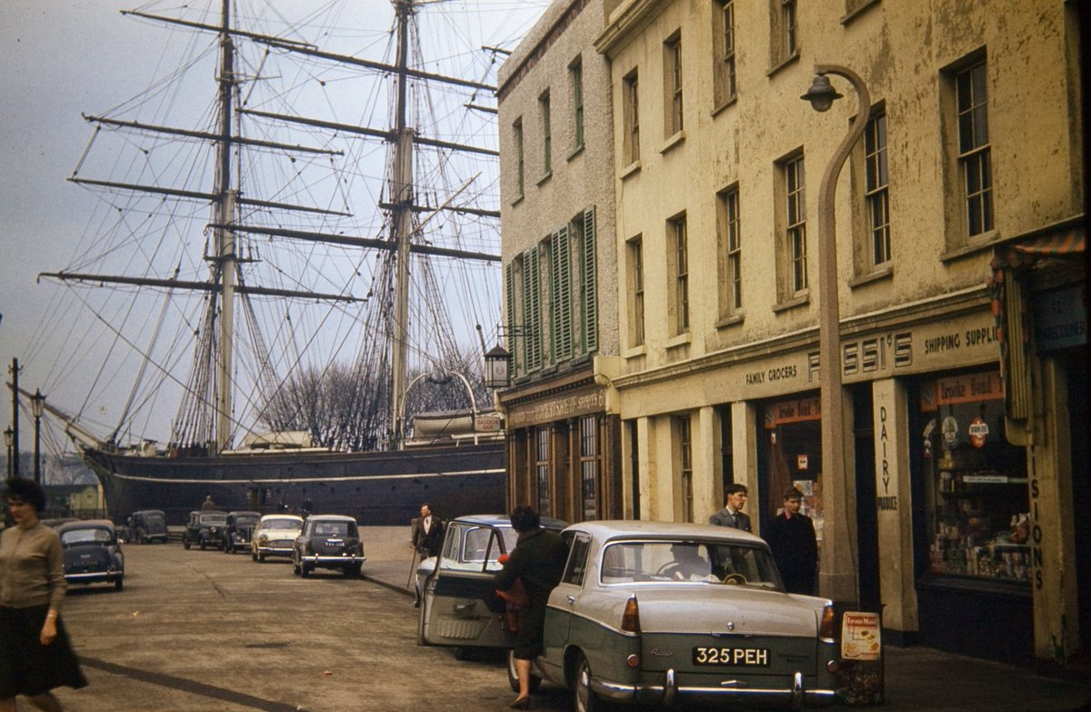 A great 1960s shot of the Cutty Sark in Greenwich ❤️