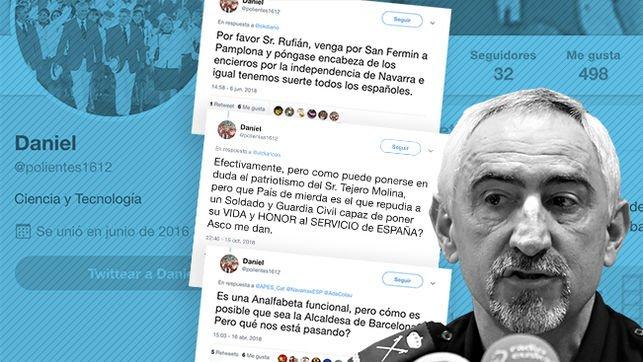 Una cuenta secreta de Twitter del jefe de la Policía Nacional en Navarra insulta a políticos de izquierdas y nacionalistas. Ahora el perfil aparece candado, impidiendo el acceso a quienes no sean sus seguidores https://t.co/KOLlWHT55m
