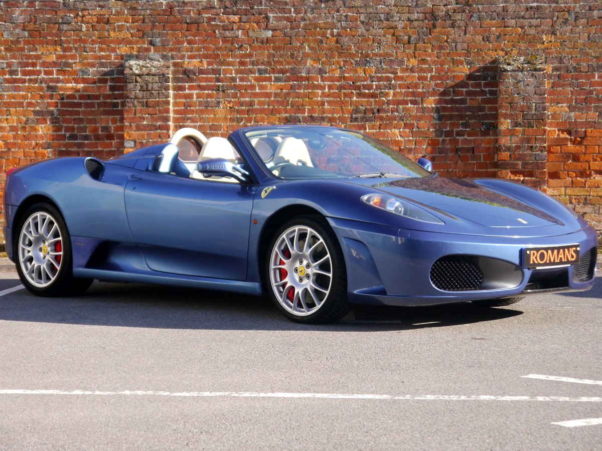 Romans Of St Albans Twitterissä Stunning Ferrari F430 Spider F1 In Blue Mirabeu Exterior And Crema Blue Scuro Leather Interior A True Supercar This Ferrari Has A Top Speed Of 193mph And A