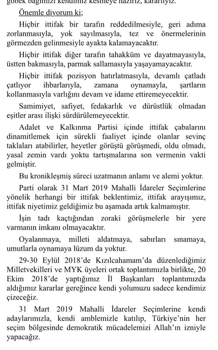 MHP Lideri Devlet Bahçeli yerel seçimlerde ittifak olmayacağını tam olarak şu sözlerle ilan etti: