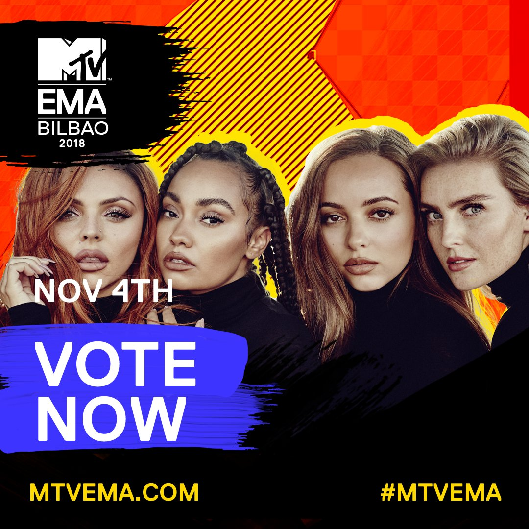 Thank you for all your votes so far, thank you @mtvema!  You can vote for us in the 'Best UK & Ireland Act' category right here 👇🏾   X thttps://t.co/BXDylE9sqShe girls
