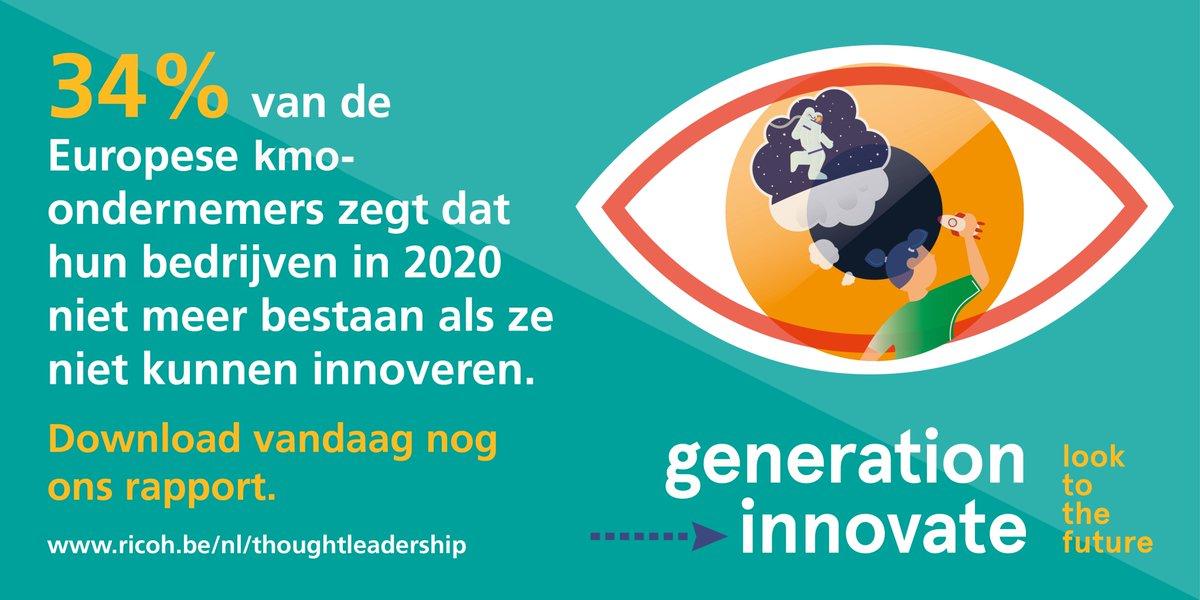 De overgrote meerderheid van #KMO-ondernemers (92%) herkent de impact van de #digitaledisruptie in hun sector. Het is daarom essentieel voor hen om zo snel mogelijk de nodige innovaties uit te voeren. Ontdek er meer over in ons nieuw onderzoeksrapport: http://thoughtleadership.ricoh-europe.com/benl/generation-innovate/…pic.twitter.com/JzHYau7bte