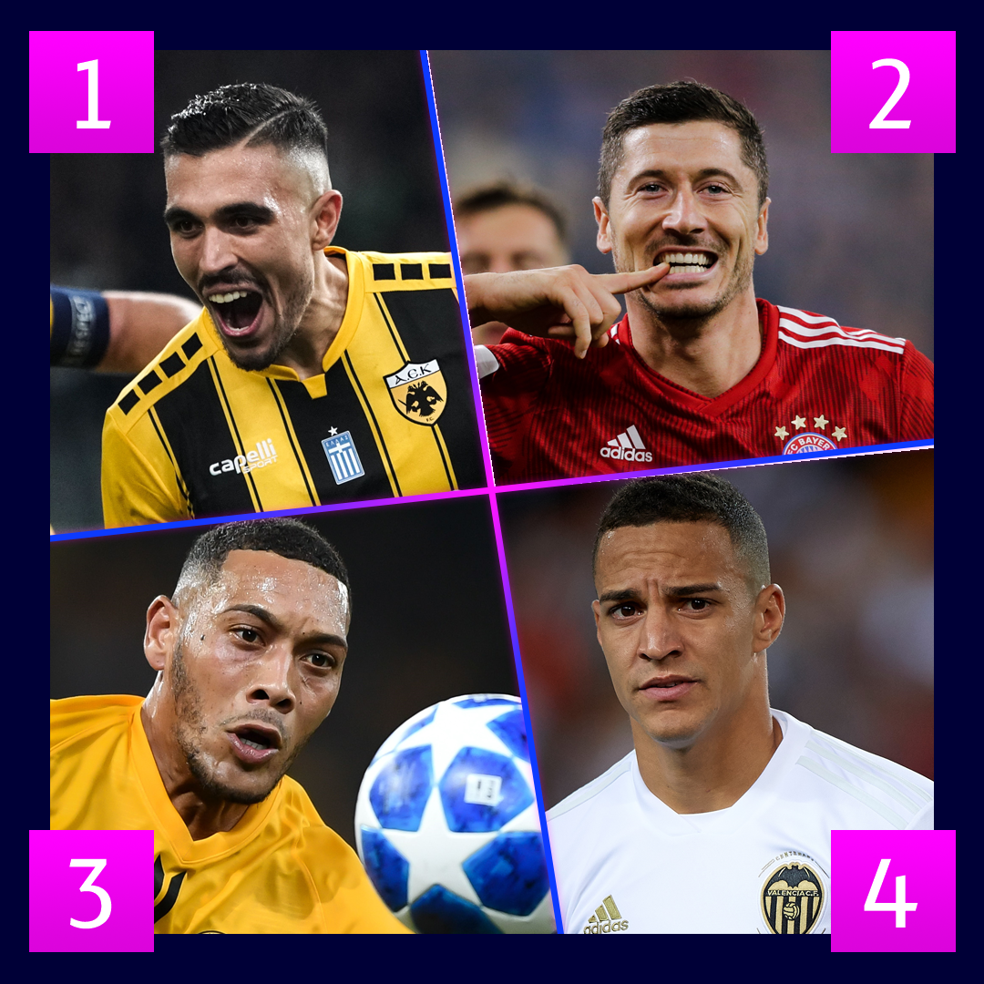 First goal in the early #UCL kick-offs will go to  __________
