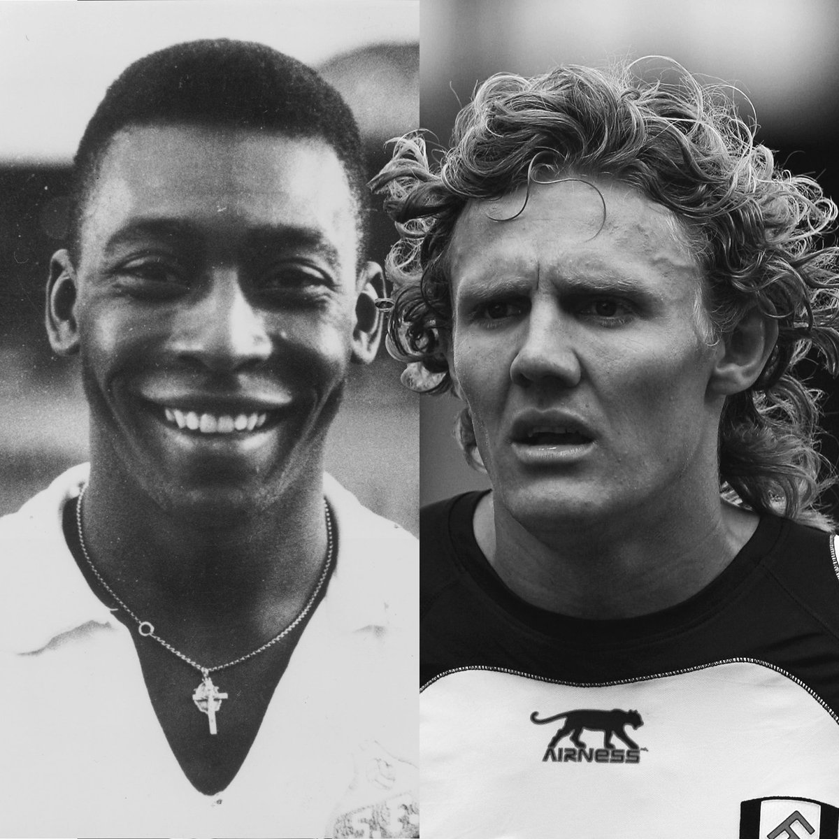 Happy Birthday to two of the most technically gifted footballers of all-time! 🎂 #JimmyBullardDay   ...but who was the better player? 💭   🔁 for Pele  ❤ for Bullard