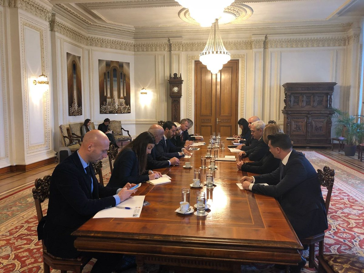 Onorato di visitare qui a Bucarest il Presidente della Camera dei deputati romena, Liviu Dragnea.