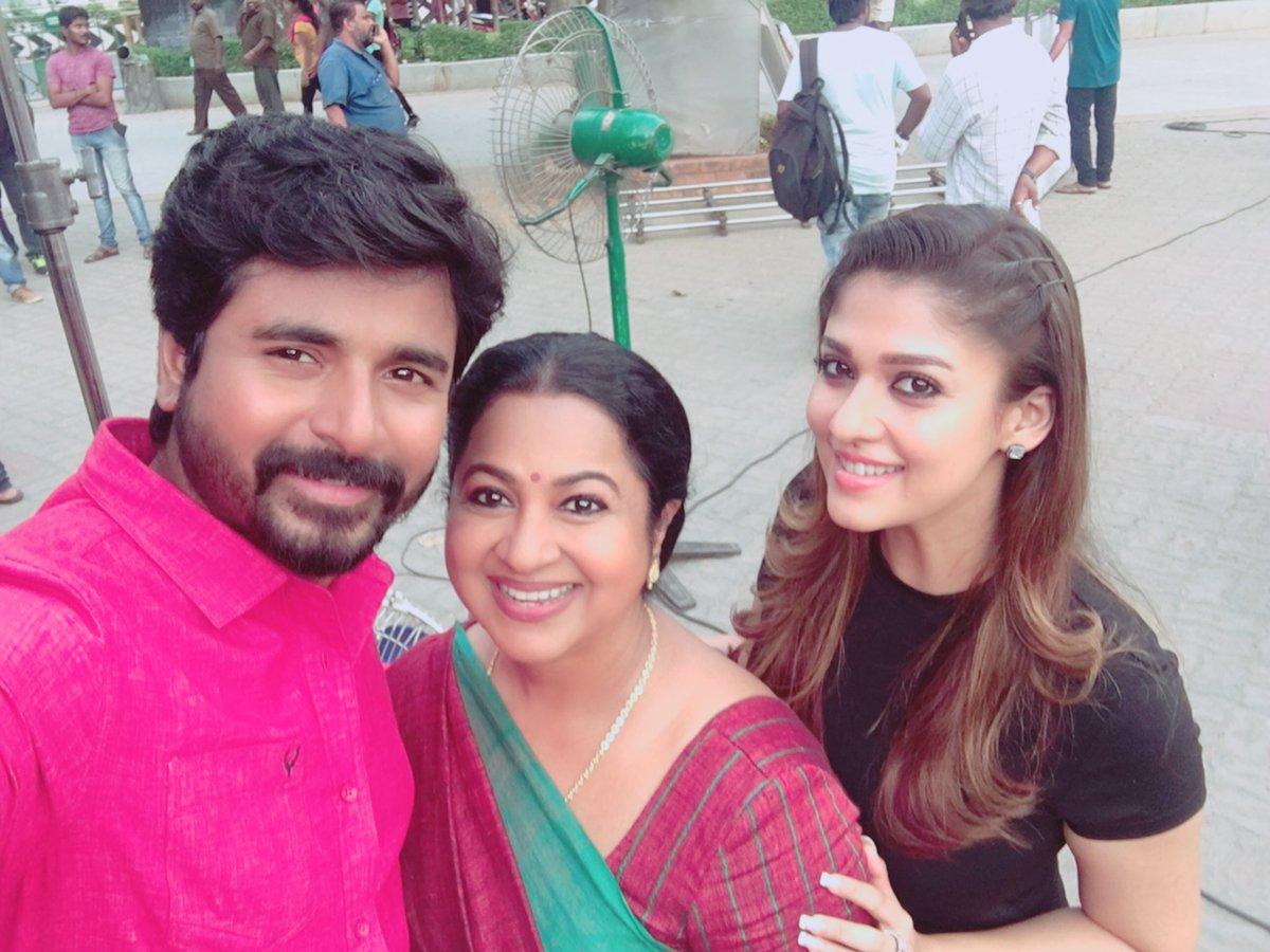 Sivakarthikeyan, Nayanthara and Raadika Sarathkumar in SK 13 Jithu Jilladi