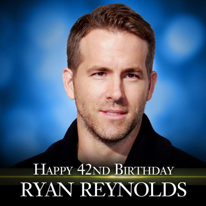 Happy Birthday to actor Ryan Reynolds! #celebrate #entertainment #fun