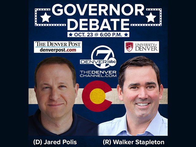 TONIGHT: Democrat Jared Polis and Republican Walker Stapleton are participating in the final governor's debate before Election Day at 6 p.m. Details: https://t.co/kwl0kCCcvb