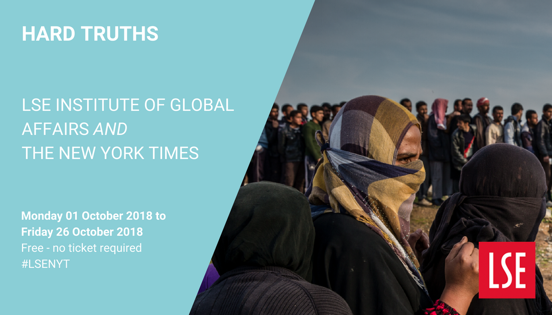 Last chance to view the Hard Truths exhibition of prize-winning photography from @nytimes in the Atrium Gallery, Old Building until Friday 26 Oct. #LSENYT #HardTruthsNYT @LSEIGA @NYTimesComhttps://t.co/Z8186kB7qPm