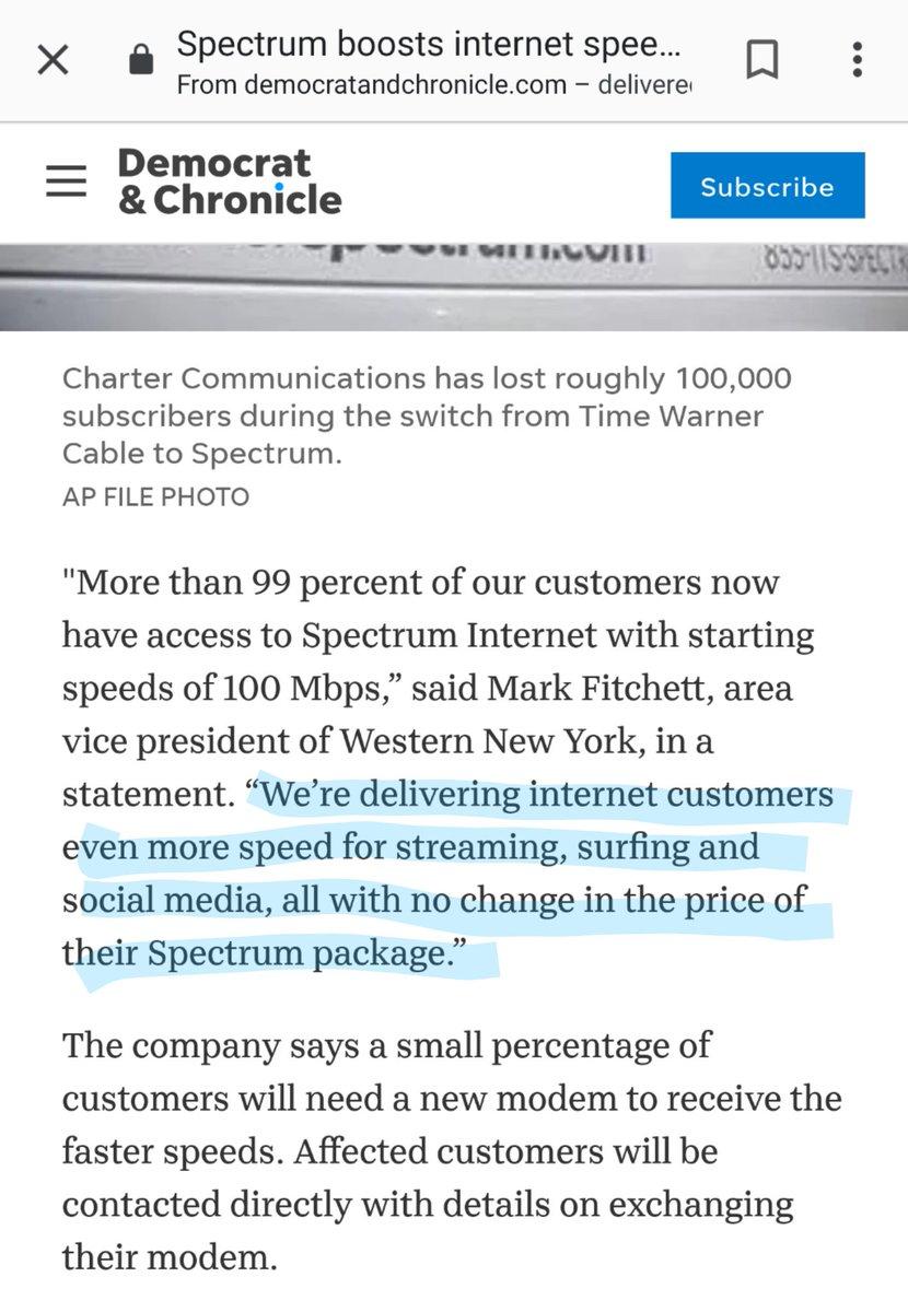 Spectrum No Internet