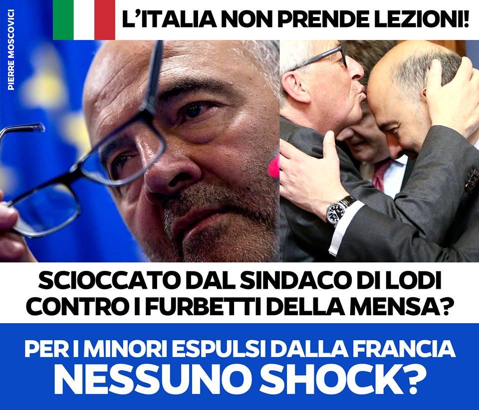Chissà se #Moscovici sarà scioccato anche per la tentata espulsione di minorenni stranieri da parte della Francia. Quello che sta emergendo a #Claviere ci conferma che, anche in materia di diritti umani, NESSUNO può permettersi di dare lezioni all'Italia.
