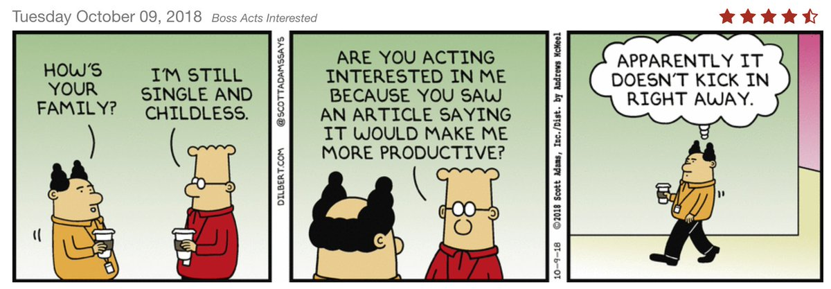 "Scott Adams on Twitter: ""What management practice or trend is ..."