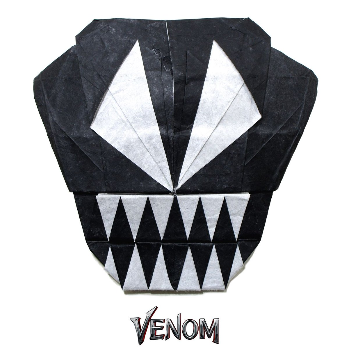 Origamime On Twitter Venom Mask Designed By Li Lianhua And Folded