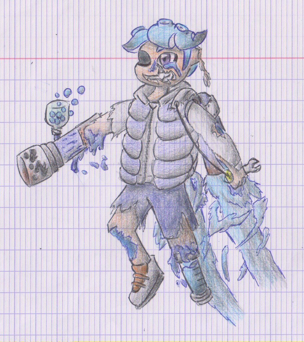 @chubbidust there is my version of the octo/squid zombie (and I redisigne the weapons and the ink tank, I juste had the ink bottle from the octo expansion)
