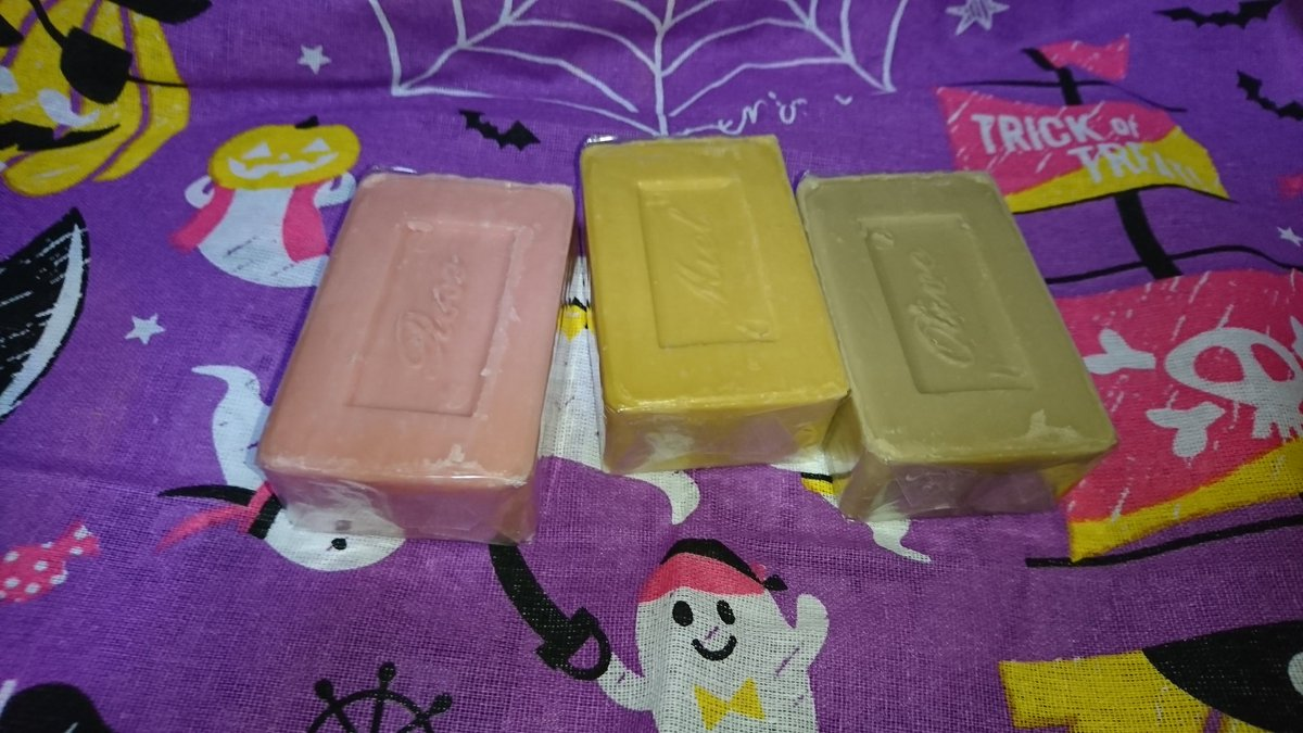 test ツイッターメディア - 昨日、ダイソーで買った石鹸。  今日違うダイソーで追加買ってきた。  ローズとハニーとオリーブ。  当分石鹸買わなくていいな(笑)  #ダイソー  #マルセイユ石鹸  #結構デカいよ https://t.co/ZuJ5wTtffM