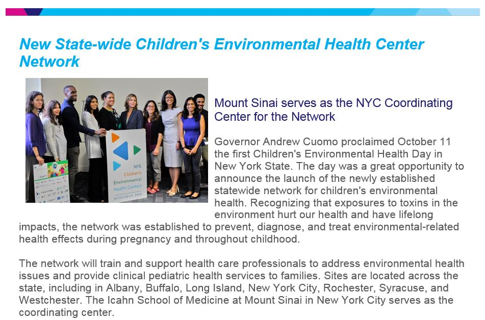 NYS Children's Environmental Health Centers on Twitter: