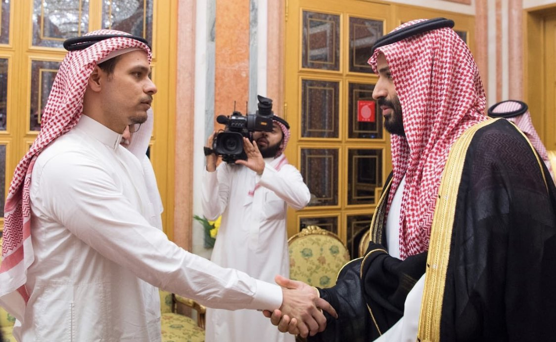 Spare a thought for Khashoggi's son, banned from leaving Saudi Arabia, who had to go and do this today https://t.co/HyTA896LwF