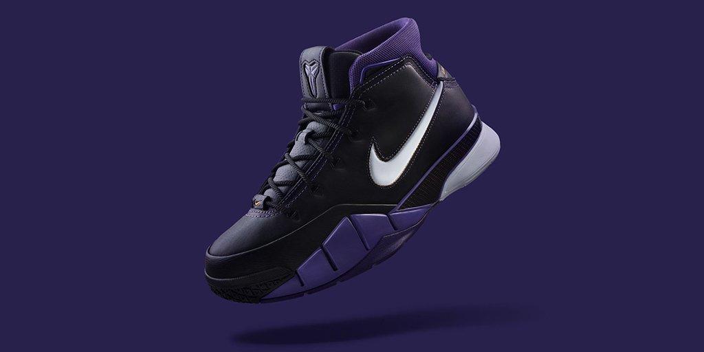 The @nikebasketball Kobe 1 Protro 'Black Out'   Shop 🇺🇸 https://t.co/Gg6JR3NYqU