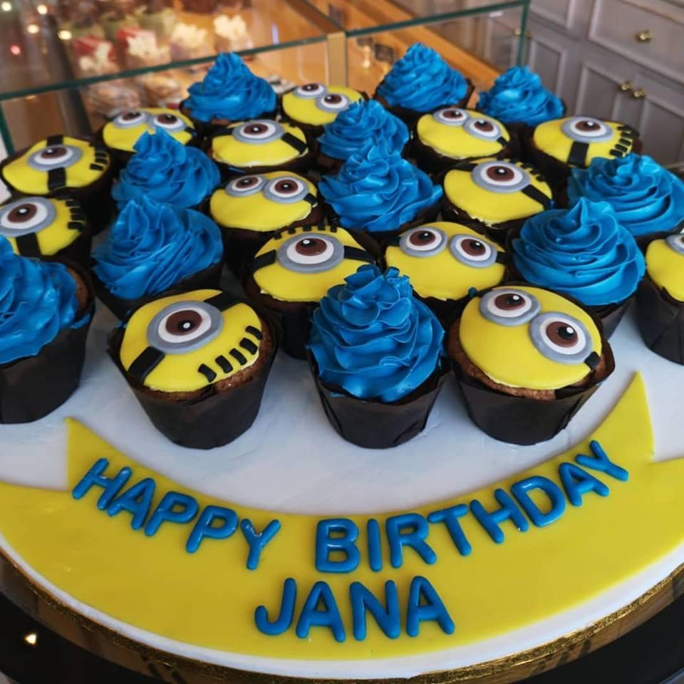 Happy Birthday Jana Minion Themed Muffins Customize Your