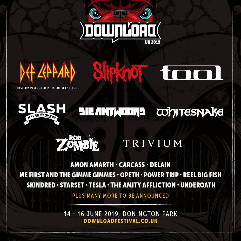 Download Festival 2019 announces Def Leppard, Tool, Slipknot, and