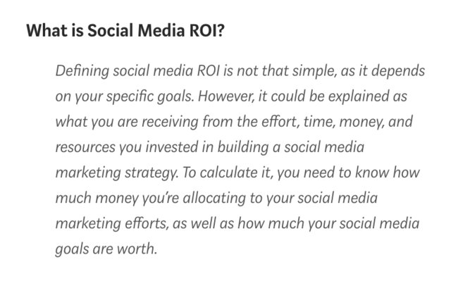 Here's your ultimate guide to measuring Social Media ROI - http://bit.ly/2MUSnHK