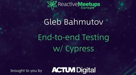 Plan for Thursday night? There's Reactive Meetups with Gleb Bahmut about end-to-end testing. We will meet in our new offices in Visionary (Plynární 10, Holešovice). Registration starts at 6:30 pm. #react #meetup #ACTUM  https://t.co/Bp3sjhOVBc https://t.co/Sn8nEldj7L