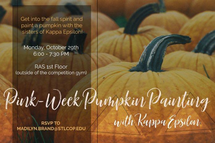 Kappa Epsilon Stlcop On Twitter Let S Paint Some Pumpkins