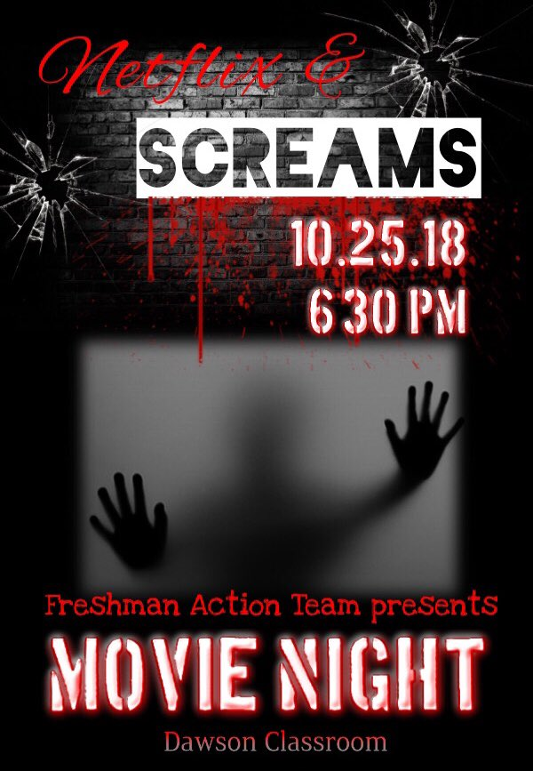 Come enjoy spooky szn with Freshman Action Team!! 👻