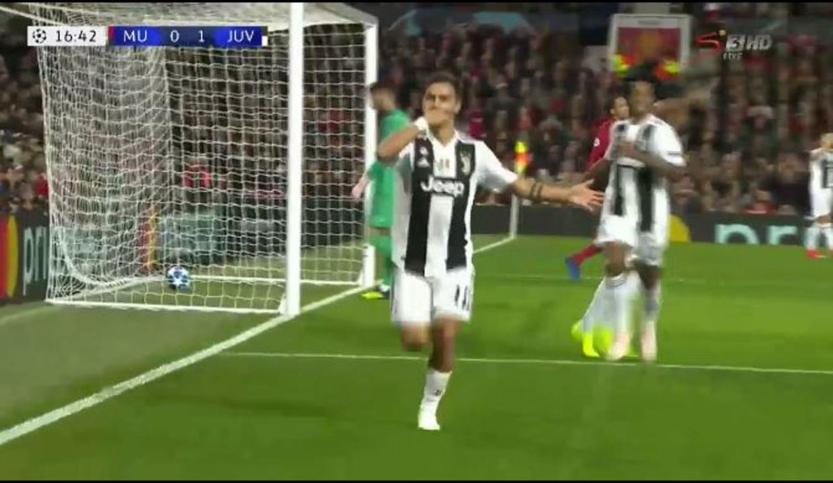 DYBALA gets the opener for Juventus ⚽☝  Coverage continues on SS3 (SA) & SS5 (ROA)  #UCL