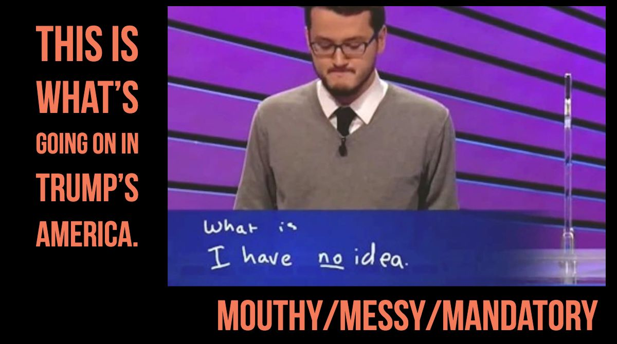 """This week on @MouthyPodcast, it's time for News Jeopardy! And our categories are: """"Things that make you go UNNNGHH,"""" """"Problematic Television,"""" and """"This is totally normal for adults to discuss in public!"""" Tune in at https://t.co/6iJ3M7OMno @PlankRonit & @yokatykatikate"""