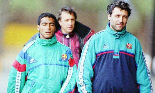 """90s Football on Twitter: """"Romario, Hristo Stoichkov and Johan Cruyff.… """""""