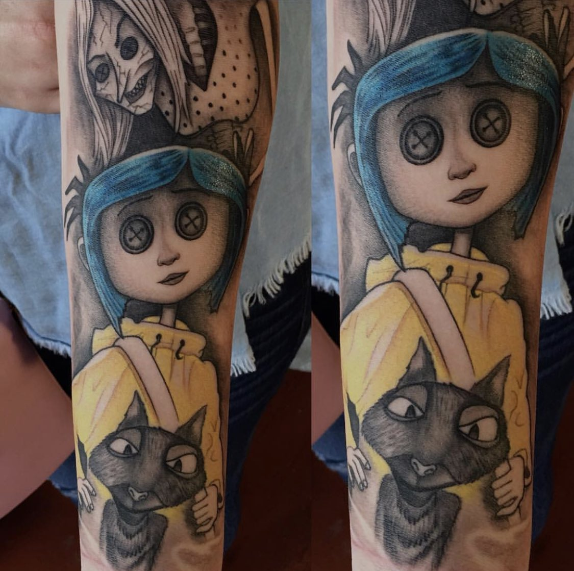 Laika On Twitter Other Mother S Dream Has Come True Coraline Is Wearing Button Eyes Shudder Thanks To Papadingtattoo Via Instagram For This Deliciously Creepy Bodyart Inktober Fanart Https T Co Z71yhzgpgu