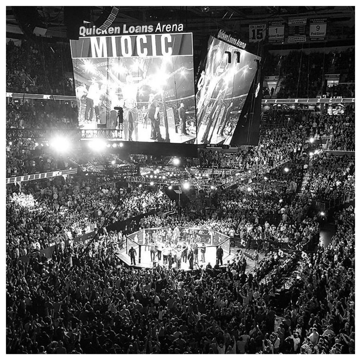 First time UFC ever came to Cleveland, OH. First time I ever defended my belt. That was a good night!