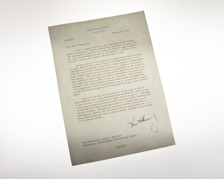 CIA #Museum Artifact of the Week: Letter from President Kennedy  President Kennedy wrote this letter to CIA Director John McCone commending the Agency for its role in the peaceful resolution of the Cuban Missile Crisis.  https://t.co/Hlt91YzGVJ