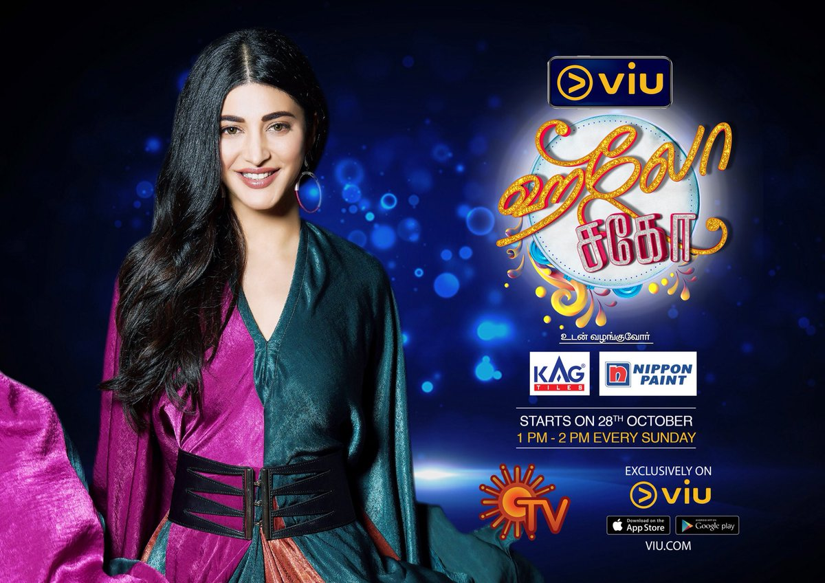 Here's how to make your Sunday's more entertaining!  #Hellosago Starts on 28th Oct 1PM to 2PM Every sunday.  Angel  @shrutihaasan Can't Wait for this  🙌