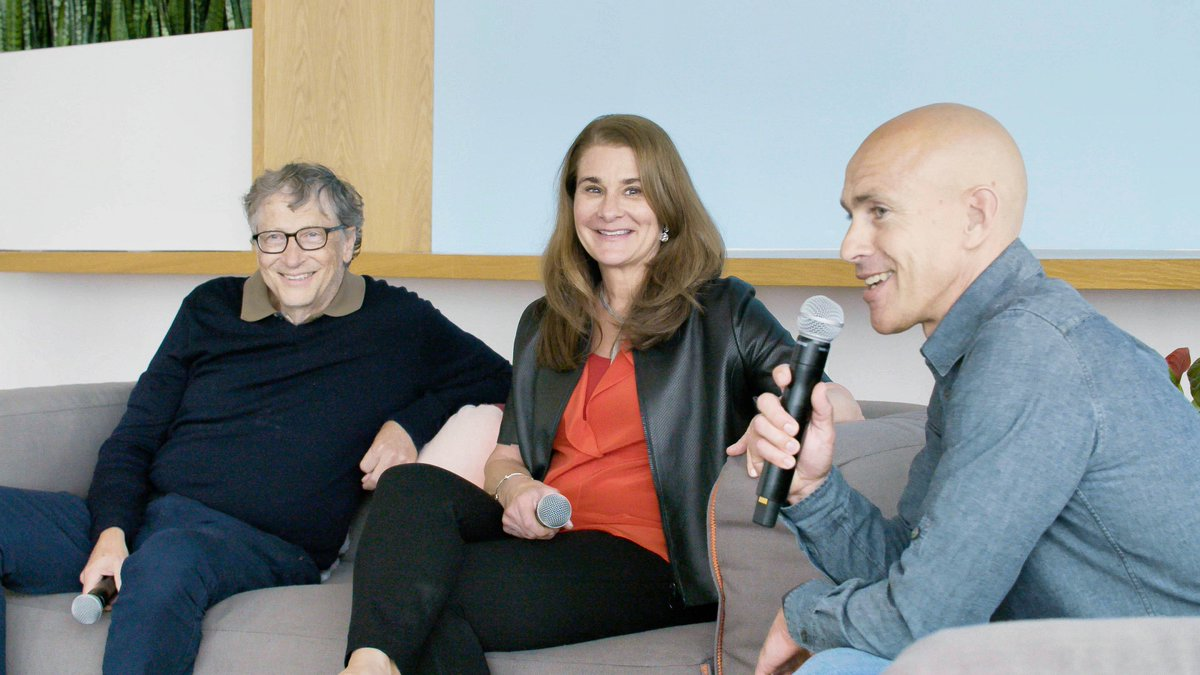 """Andy Puddicombe on Twitter: """"Such an honor to welcome @BillGates and @MelindaGates to Headspace yesterday. Their work with the @gatesfoundation is jaw-dropping, impacting lives, and saving lives, on an unimaginable scale… https://t.co/ifOyheVwEu"""""""
