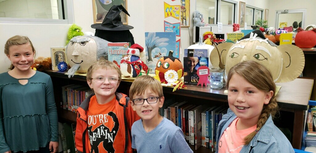 Our storybook pumpkin winners. So many great pumpkins to choose from.