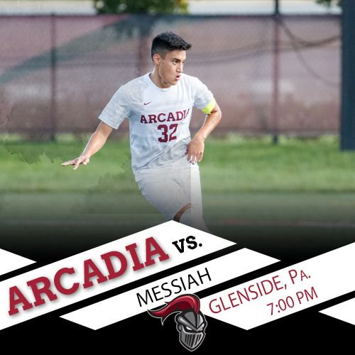. @Arcadia_MSOC takes on Messiah tonight at 7 p.m.! #GoKnights   Stats: https://buff.ly/2NVyhSi  Video: https://buff.ly/2CzBQqV