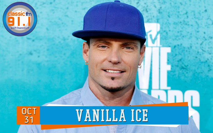 Happy birthday to rapper Vanilla Ice, who was made popular by the hit song, Ice Ice Baby.