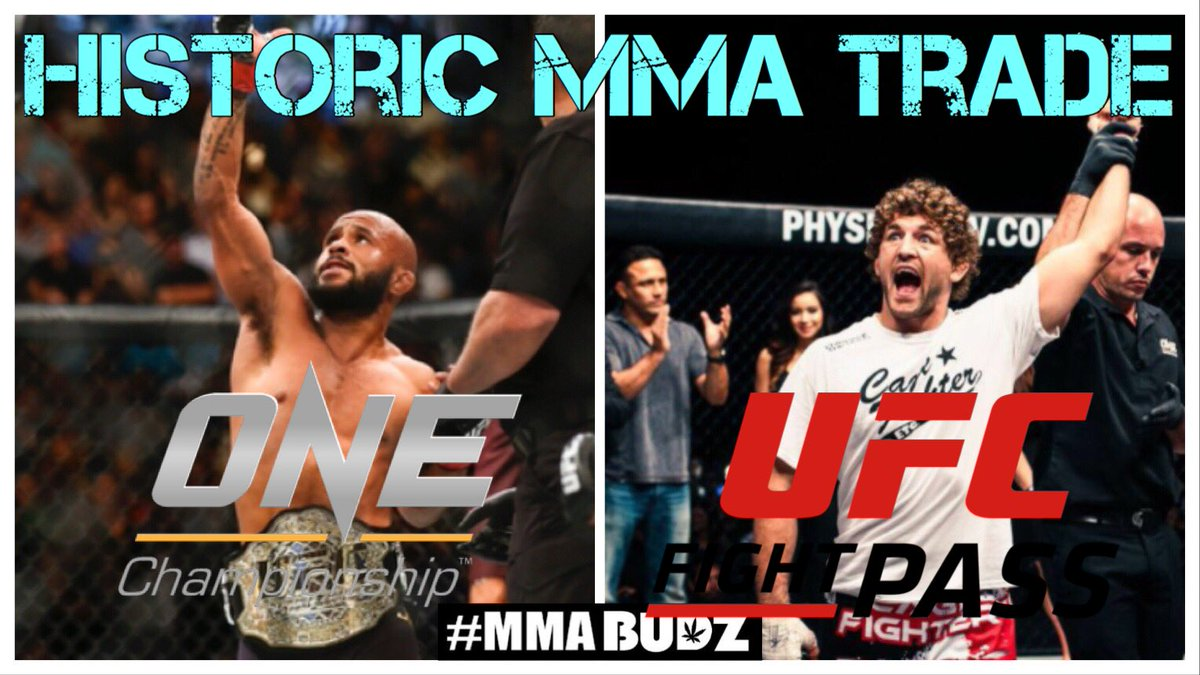 BREAKING NEWS: @ONEChampionship has traded @BenAskren to the @UFC in exchange for Demetrious @MightyMouseUFC Johnson  HISTORIC FIRST EVER #MMA TRADE